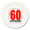 60TH BIRTHDAY DINNER PLATE 8-PKG PARTY SUPPLIES
