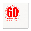 60TH BIRTHDAY LUNCHEON NAPKIN 16-PKG PARTY SUPPLIES