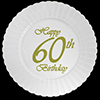 60TH CLASSY BIRTHDAY PLASTIC DESSERT PLA PARTY SUPPLIES