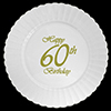 60TH CLASSY BIRTHDAY PLASTIC DINNER PLAT PARTY SUPPLIES