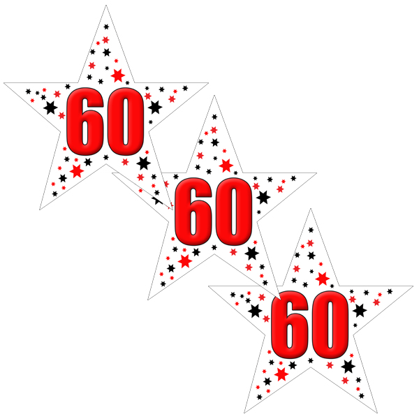 60TH BIRTHDAY STAR DECO FETTI PARTY SUPPLIES