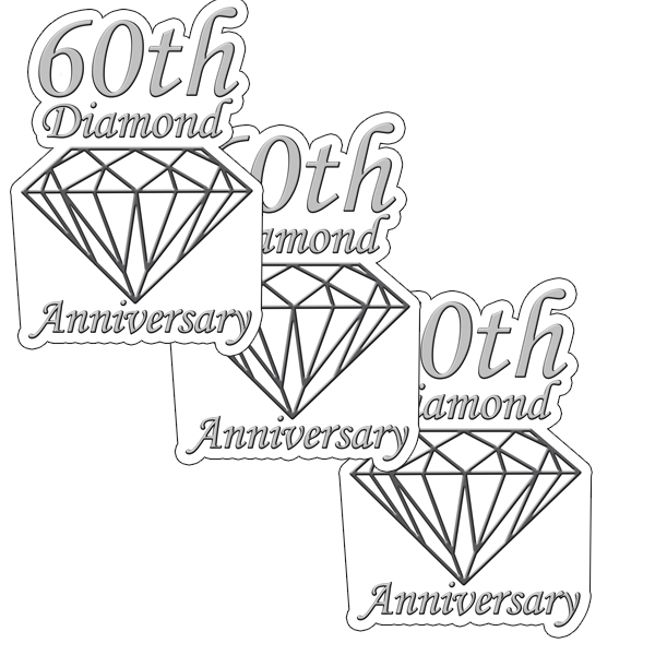 60TH ANNIVERSARY DIAMOND DECO FETTI PARTY SUPPLIES