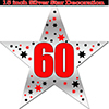 60TH SILVER STAR DECORATION PARTY SUPPLIES