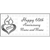 60TH ANNIVERSARY MOD CUSTOMIZED BANNER PARTY SUPPLIES