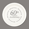 60TH ANNIVERSARY DESSERT PLATE 8/PKG PARTY SUPPLIES