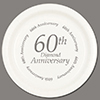 60TH ANNIVERSARY DINNER PLATE 8/CT PARTY SUPPLIES