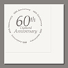 60TH ANNIVERSARY LUNCHEON NAPKIN 16/CT PARTY SUPPLIES