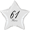 61 YEARS CLASSY BLACK STAR BALLOON PARTY SUPPLIES