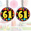 61ST BIRTHDAY BALLOON DANGLER PARTY SUPPLIES