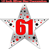 61ST SILVER STAR DECORATION PARTY SUPPLIES