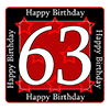 63RD BIRTHDAY COASTER PARTY SUPPLIES