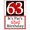 PERSONALIZED 63 YEAR OLD YARD SIGN PARTY SUPPLIES