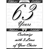 63 YEARS CLASSY BLACK DOOR BANNER PARTY SUPPLIES