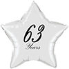 63 YEARS CLASSY BLACK STAR BALLOON PARTY SUPPLIES