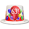 63RD BIRTHDAY BALLOON BLAST TOP HAT PARTY SUPPLIES