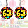 63RD BIRTHDAY BALLOON DANGLER 3/PKG PARTY SUPPLIES