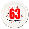 63RD BIRTHDAY DESSERT PLATE 8-PKG PARTY SUPPLIES