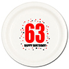 63RD BIRTHDAY DINNER PLATE 8-PKG PARTY SUPPLIES
