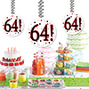 64! DANGLER DECORATION 3/PKG PARTY SUPPLIES