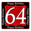 64TH BIRTHDAY COASTER PARTY SUPPLIES