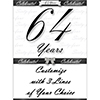 64 YEARS CLASSY BLACK DOOR BANNER PARTY SUPPLIES