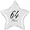 64 YEARS CLASSY BLACK STAR BALLOON PARTY SUPPLIES
