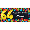 BALLOON 64TH BIRTHDAY CUSTOMIZED BANNER PARTY SUPPLIES