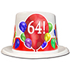64TH BIRTHDAY BALLOON BLAST TOP HAT PARTY SUPPLIES