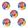 64TH BIRTHDAY BALLOON BLAST DECO FETTI PARTY SUPPLIES