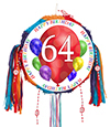 64TH BIRTHDAY BALLOON BLAST PINATA PARTY SUPPLIES