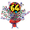 64TH BIRTHDAY BALLOON CENTERPIECE PARTY SUPPLIES