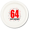 64TH BIRTHDAY DINNER PLATE 8-PKG PARTY SUPPLIES