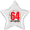 64TH BIRTHDAY STAR BALLOON PARTY SUPPLIES