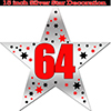 64TH SILVER STAR DECORATION PARTY SUPPLIES