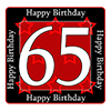 65TH BIRTHDAY COASTER PARTY SUPPLIES