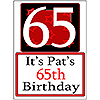 PERSONALIZED 65 YEAR OLD YARD SIGN PARTY SUPPLIES