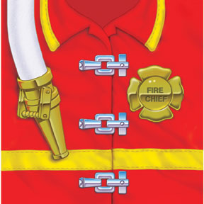 Click for larger picture of DISCONTINUED FIREFIGHTER BEVERAGE NAPKIN PARTY SUPPLIES
