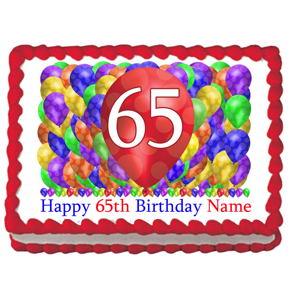 Click For Larger Picture Of 65TH BIRTHDAY BALLOON BLAST EDIBLE IMAGE PARTY SUPPLIES