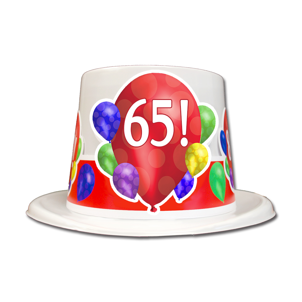 Click For Larger Picture Of 65TH BIRTHDAY BALLOON BLAST TOP HAT PARTY SUPPLIES
