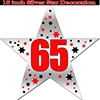 65TH SILVER STAR DECORATION PARTY SUPPLIES