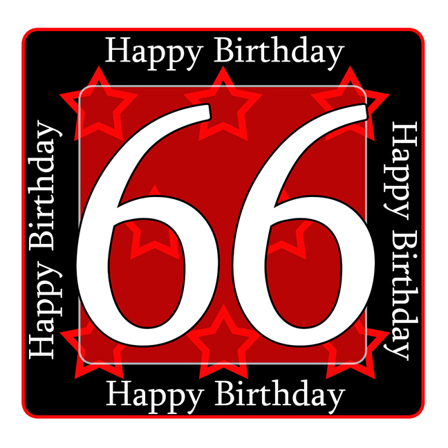 66 Happy Birthday Party Supplies 66th Coaster