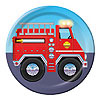 DISCONTINUED FIREFIGHTER DESSERT PLATE PARTY SUPPLIES