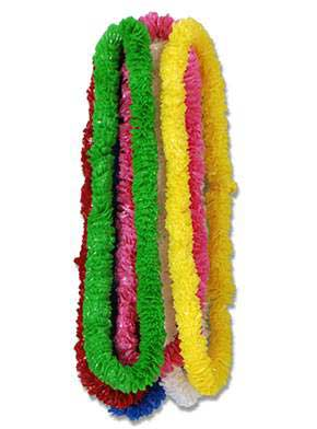 Click for larger picture of LEIS (1.5 IN) POLY ASSORTED COLORS PARTY SUPPLIES