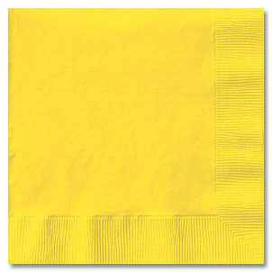 Click for larger picture of GOLDEN YELLOW LUNCHEON NAPKIN (50 CT.) PARTY SUPPLIES