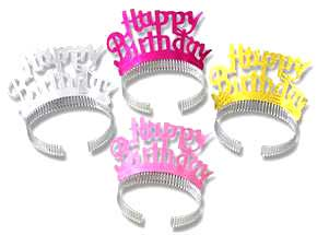 Click for larger picture of HAPPY BIRTHDAY TIARA (BEISTLE) PARTY SUPPLIES
