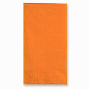 Click for larger picture of ORANGE 2 PLY DINNER NAPKIN (600/CS) PARTY SUPPLIES