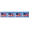 DISCONTINUED WAVING FLAGS BORDER ROLL PARTY SUPPLIES