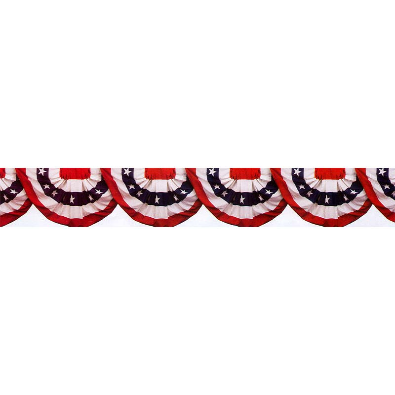 Click for larger picture of PATRIOTIC BUNTING BORDER ROLL PARTY SUPPLIES