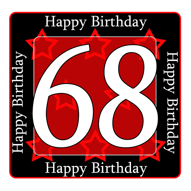 68 Happy Birthday Party Supplies 68th Coaster