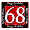 68TH BIRTHDAY COASTER PARTY SUPPLIES